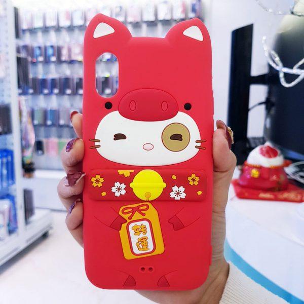 Ốp lưng điện thoại mèo thần tài Lofter đỏ3