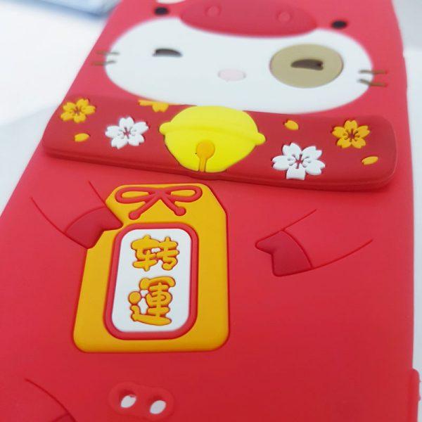 Ốp lưng điện thoại mèo thần tài Lofter đỏ2