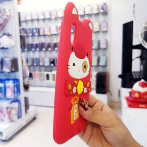 Ốp lưng điện thoại mèo thần tài Lofter đỏ