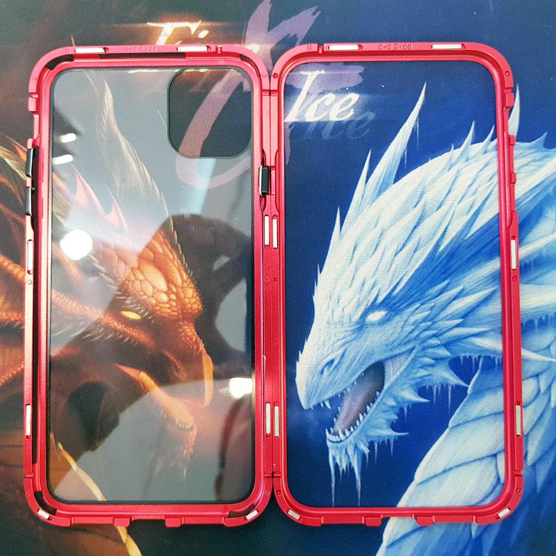 Ốp lưng iPhone Xs Max nam châm kính cường lực Likgus viền đỏ