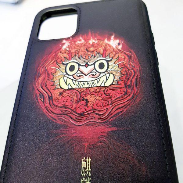 Ốp lưng điện thoại da sơn màu hệ hỏa1