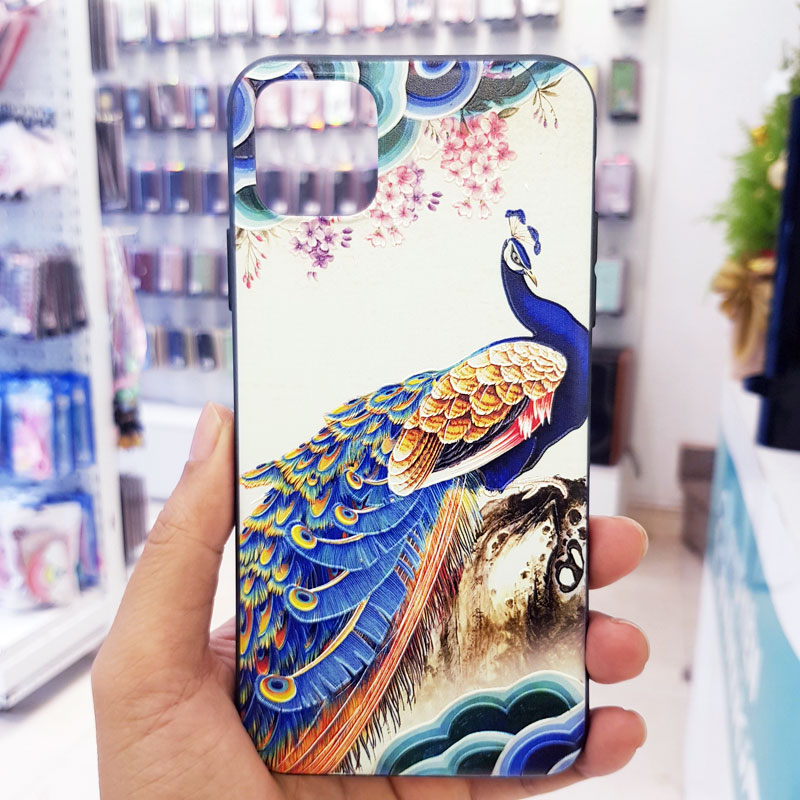 Ốp lưng iPhone X đẹp chim công biển2