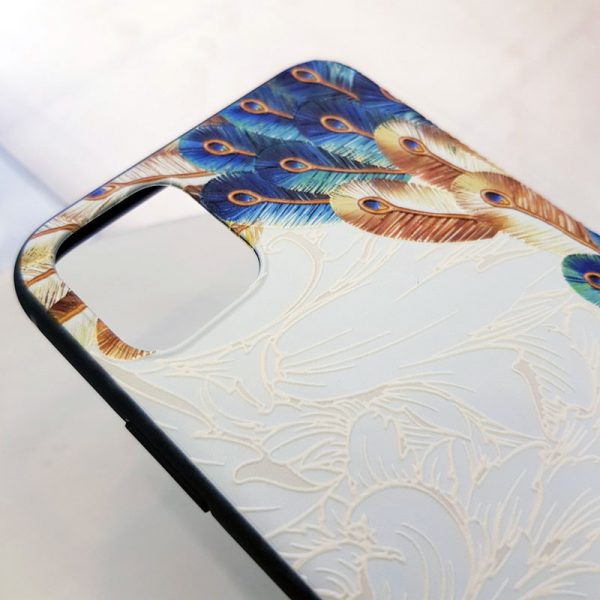 Ốp lưng điện thoại chim công trắng