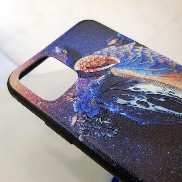 Ốp lưng điện thoại chim công xanh1
