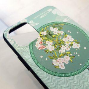 Ốp lưng điện thoại quạt xanh hoa trắng2
