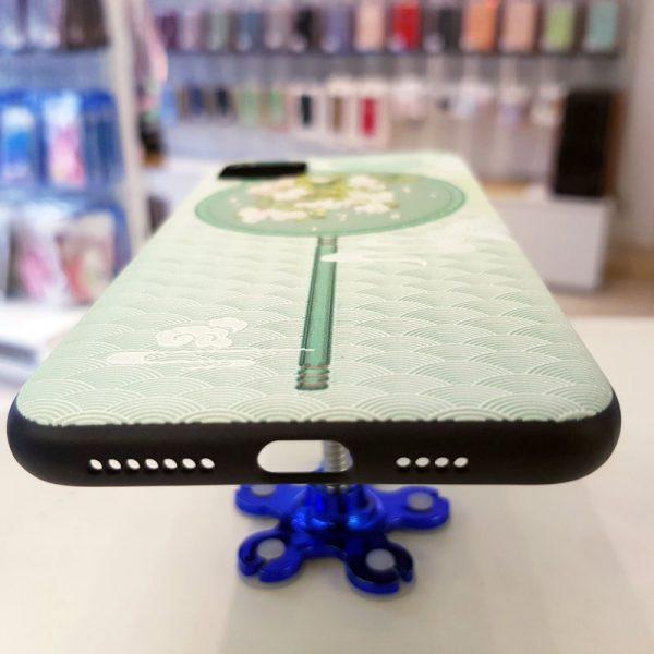 Ốp lưng điện thoại quạt xanh hoa trắng1