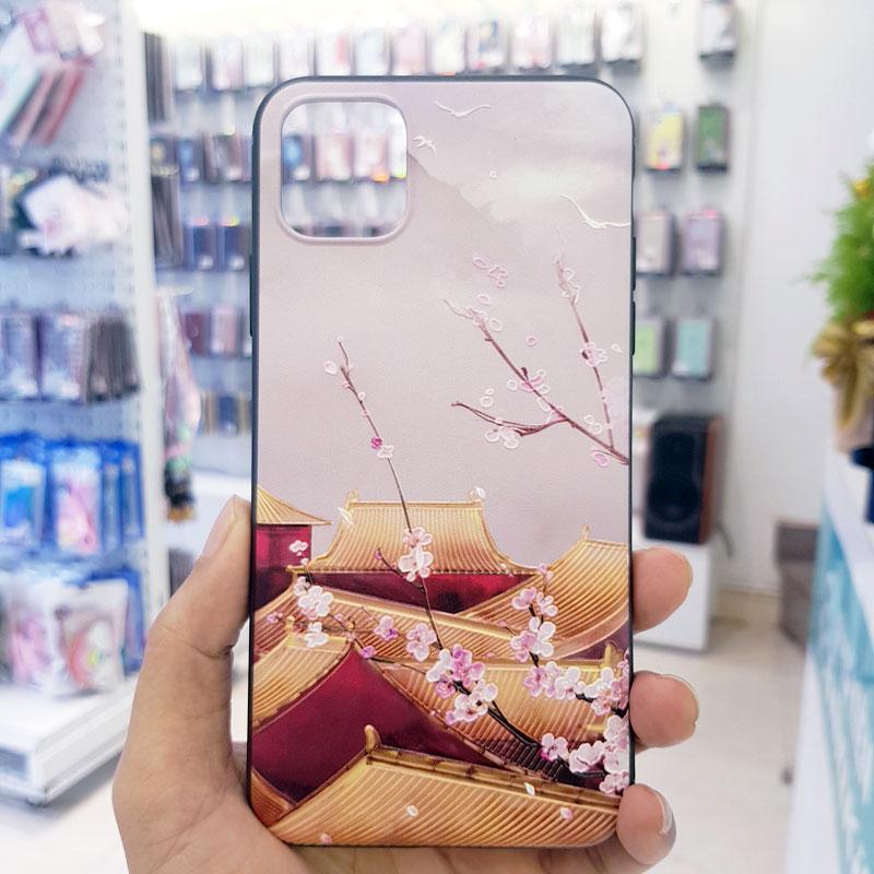 Ốp lưng iPhone Xs Max đẹp sơn 3D sáng sớm tử cấm thành