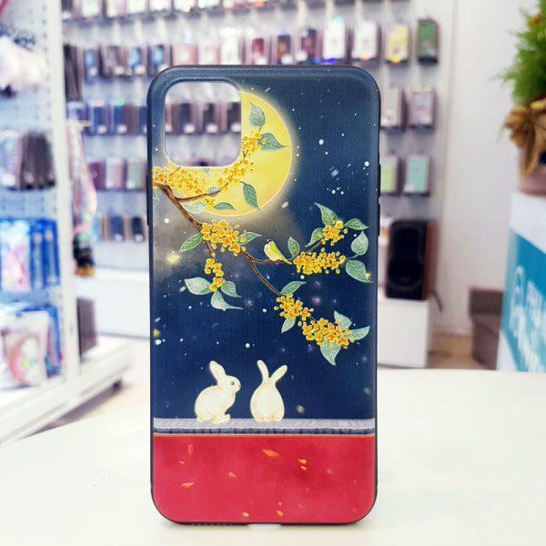 Ốp lưng điện thoại thỏ ngắm trăng5