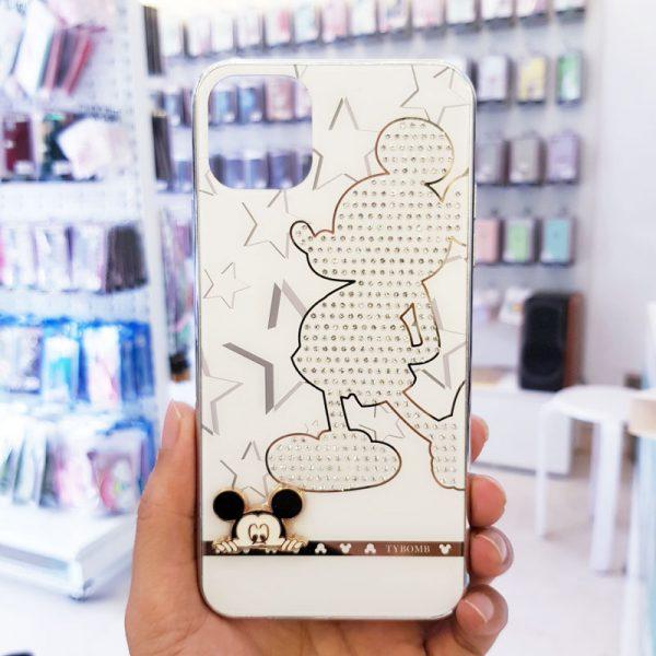 Ốp lưng điện thoại đính đá tybomb hình Mickey