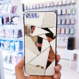 Ốp lưng điện thoại đính đá Tybomb gương3