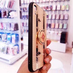 Ốp lưng điện thoại Tybomb đính đá kèm iRing hồng2