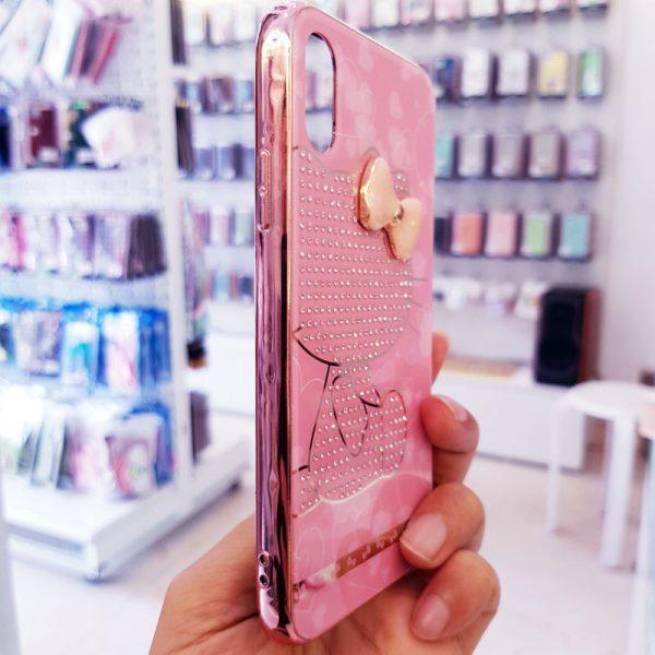 Ốp lưng điện thoại đính đá tybomb hình Kitty3