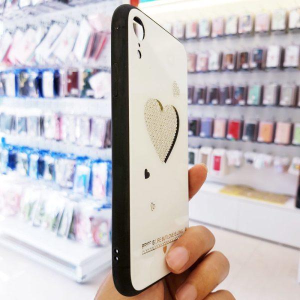 Ốp lưng điện thoại đính đá Tybomb trái tim4