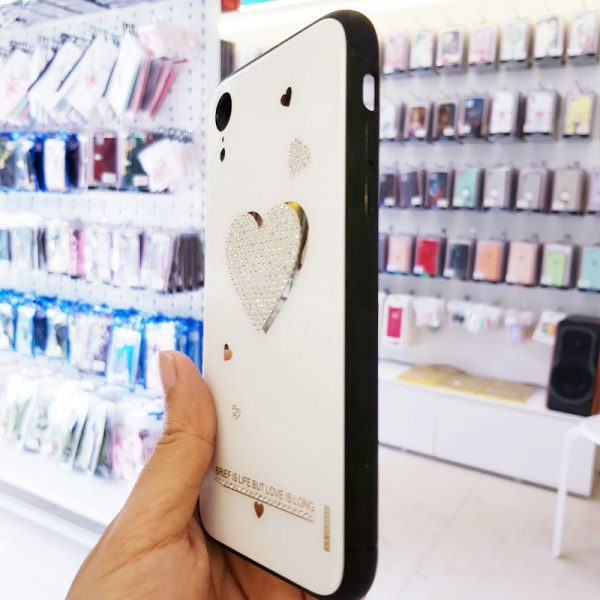 Ốp lưng điện thoại đính đá Tybomb trái tim3