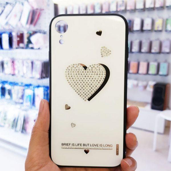 Ốp lưng điện thoại đính đá Tybomb trái tim2