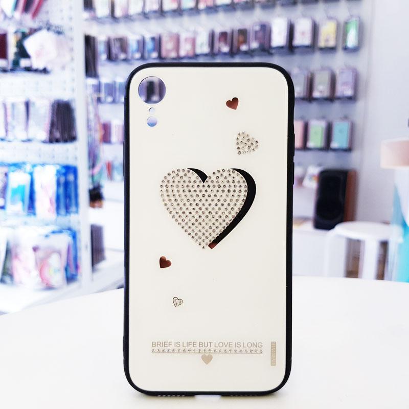 Ốp lưng điện thoại đính đá Tybomb trái tim