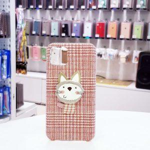 Ốp lưng điện thoại vải mèo hồng3