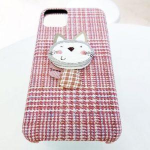 Ốp lưng điện thoại vải mèo hồng6