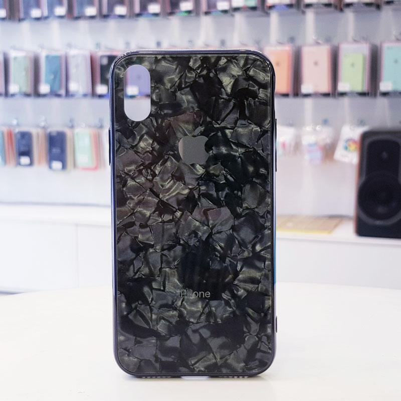Ốp lưng iPhone X giá rẻ chính hãng Aolibao kiểu vân đá đen1