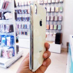 Ốp lưng điện thoại vân đá lưng kính aolibao trắng3