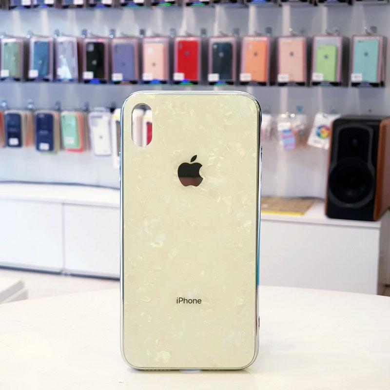 Ốp lưng iPhone X giá rẻ chính hãng Aolibao kiểu vân đá trắng
