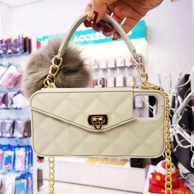 Ốp lưng kiêm ví Chanel cao cấp cho iPhone X màu trắng1