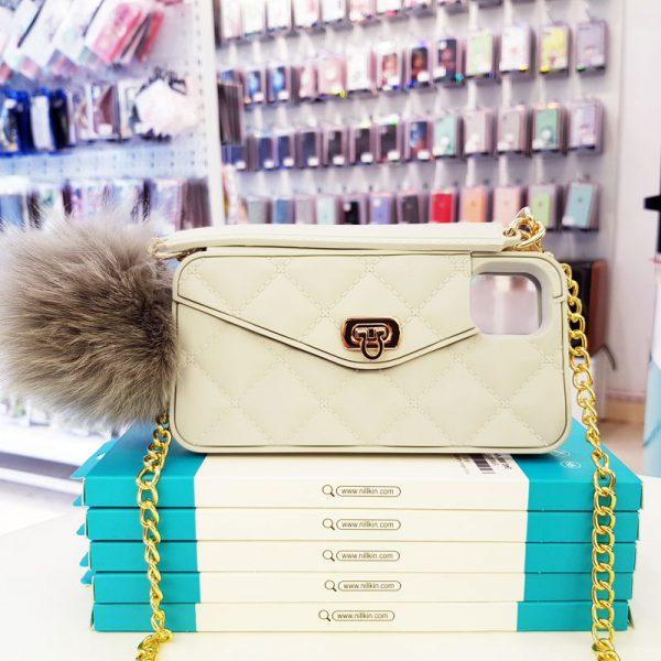 Ốp lưng điện thoại sang chảnh ví Chanel trắng