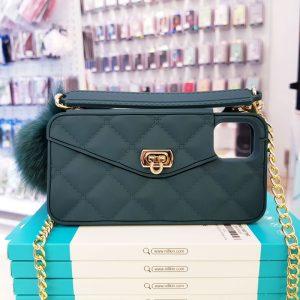 Ốp lưng điện thoại sang chảnh ví Chanel xanh rêu1
