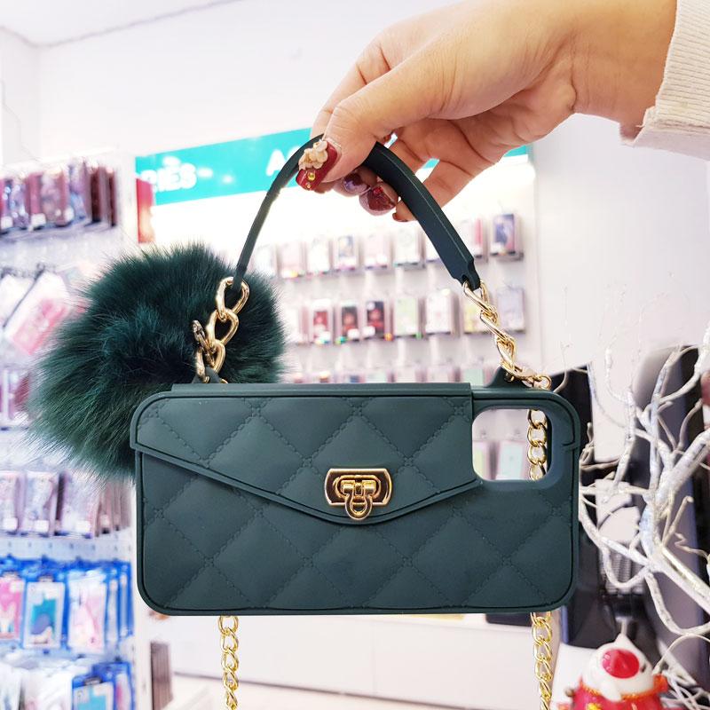 Ốp lưng điện thoại sang chảnh ví Chanel xanh rêu3