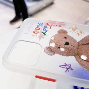 ốp lưng điện thoại nhám hình gấu2