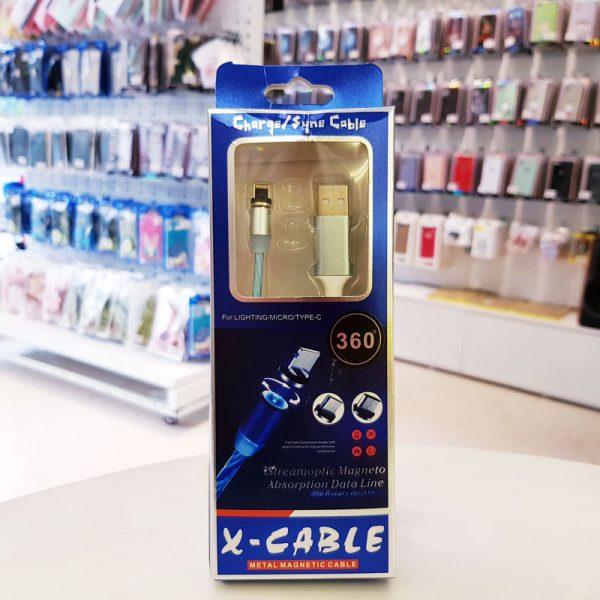 Cáp sạc nam châm iPhone X-Cable-4
