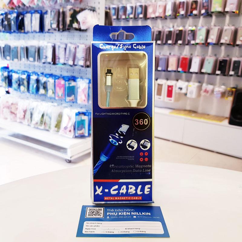 Cáp sạc nam châm iPhone X-Cable-3