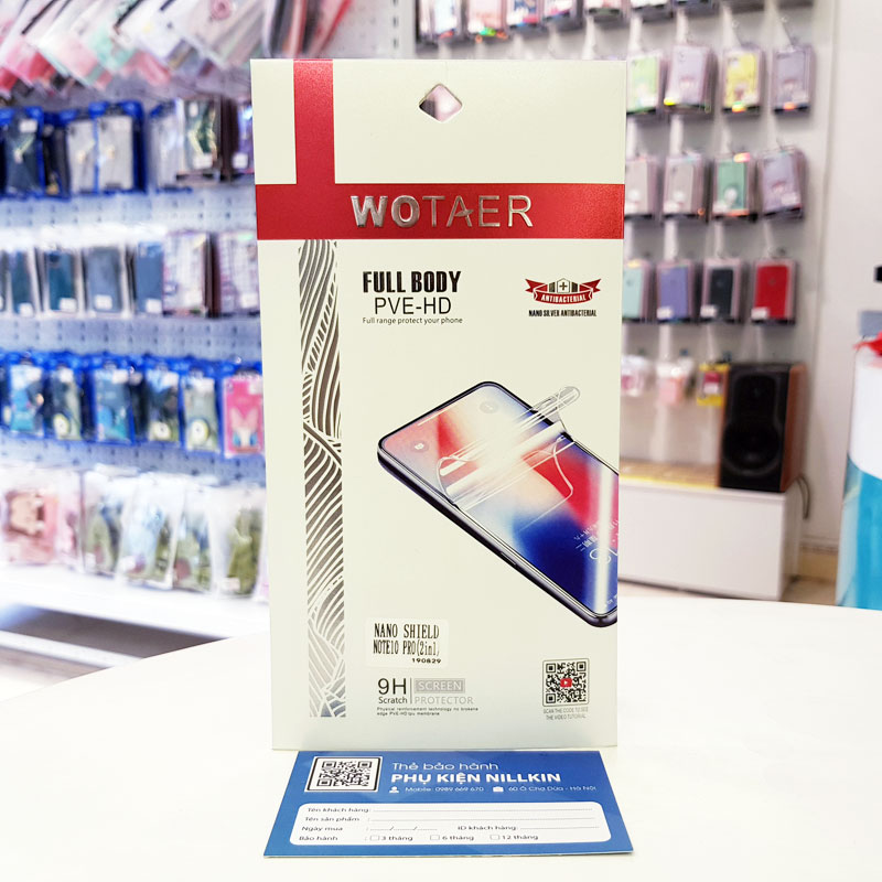Miếng dán PPF Note 10+ 2 in 1 Wotaer -7