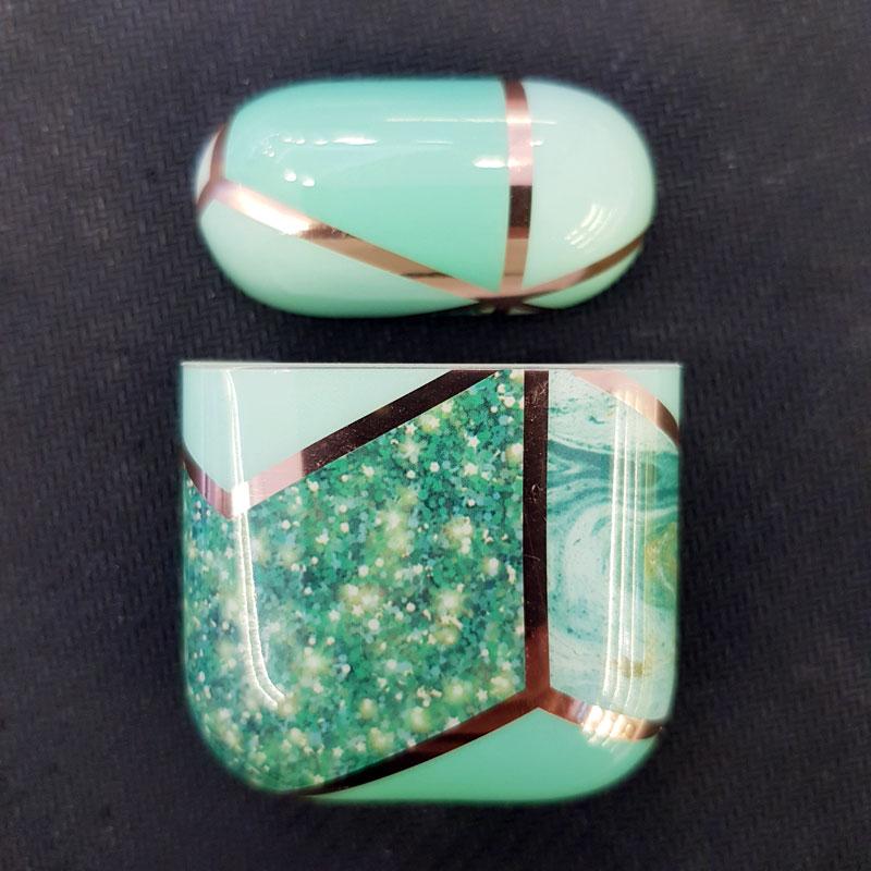 Bao Airpods 1/2 vân đá viền vàng