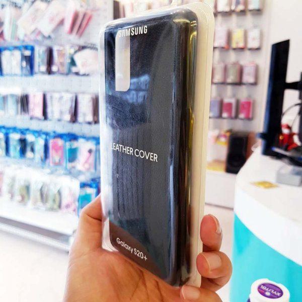 Ốp lưng điện thoại Samsung S20 Ultra bằng da đen-3