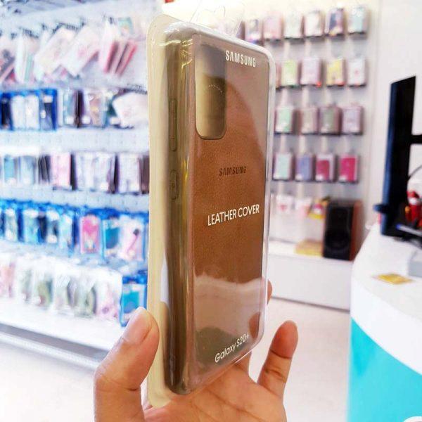 Ốp lưng điện thoại Samsung S20 Ultra bằng da nâu-2