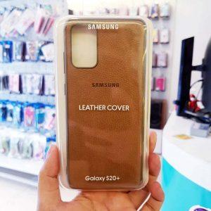 Ốp lưng điện thoại Samsung S20 Ultra bằng da nâu-1
