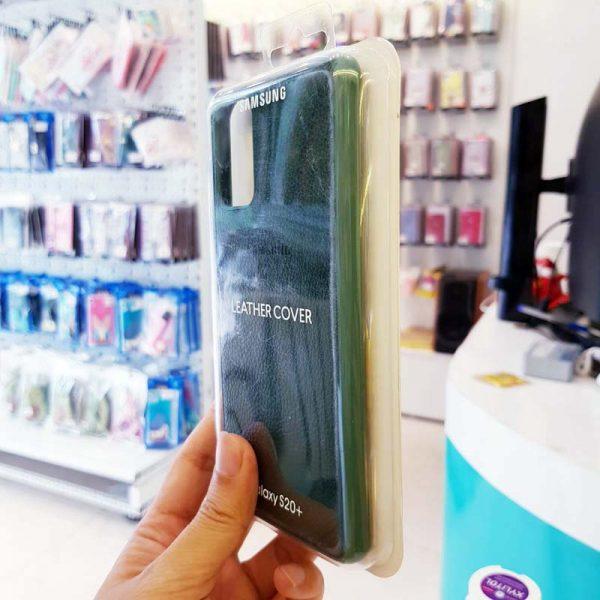 Ốp lưng điện thoại Samsung S20 Ultra bằng da xanh lá-3
