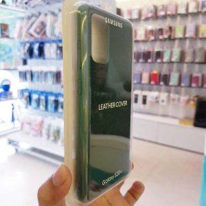Ốp lưng điện thoại Samsung S20 Ultra bằng da xanh lá-1